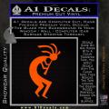 Kokopelli D1 Decal Sticker 2 Pack Orange Emblem 120x120