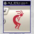 Kokopelli D1 Decal Sticker 2 Pack Red Vinyl 120x120