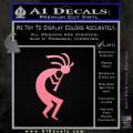 Kokopelli D1 Decal Sticker 2 Pack Soft Pink Emblem 120x120