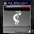 Kokopelli D1 Decal Sticker 2 Pack White Vinyl 120x120