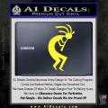 Kokopelli D1 Decal Sticker 2 Pack Yellow Vinyl 120x120