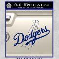 LA Dodgers Decal Sticker Full Blue Vinyl 120x120