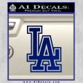 LA Dodgers Decal Sticker Outline Blue Vinyl 120x120