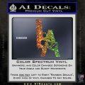 LA Los Angeles Gun Decal Sticker Glitter Sparkle 120x120