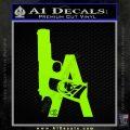 LA Los Angeles Gun Decal Sticker Lime Green Vinyl 120x120