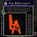 LA Los Angeles Gun Decal Sticker Orange Emblem 120x120
