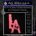 LA Los Angeles Gun Decal Sticker Pink Emblem 120x120