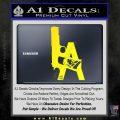 LA Los Angeles Gun Decal Sticker Yellow Laptop 120x120