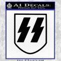 Late SS Helmet Nazi WW2 Decal Sticker Black Vinyl 120x120