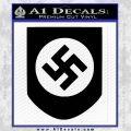 Late Swastika Helmet Nazi WW2 Decal Sticker Black Vinyl 120x120