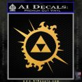 Legend Of Zelda Triforce Splash D1 Decal Sticker Gold Vinyl 120x120