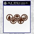 Magic The Gathering Olympics D1 Decal Sticker BROWN Vinyl 120x120