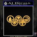 Magic The Gathering Olympics D1 Decal Sticker Gold Vinyl 120x120