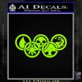 Magic The Gathering Olympics D1 Decal Sticker Lime Green Vinyl 120x120