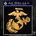 Marine Globe Decal Sticker ALT Gold Vinyl 120x120