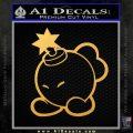 Mario Bomb Decal Sticker Gold Vinyl 120x120