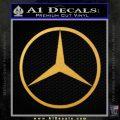 Mercedes Logo D1 Decal Sticker Gold Vinyl 120x120