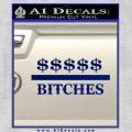Money Over Bitches D1 Decal Sticker Blue Vinyl 120x120