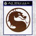Mortal Kombat Decal Sticker DS BROWN Vinyl 120x120
