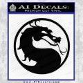 Mortal Kombat Decal Sticker DS Black Vinyl 120x120