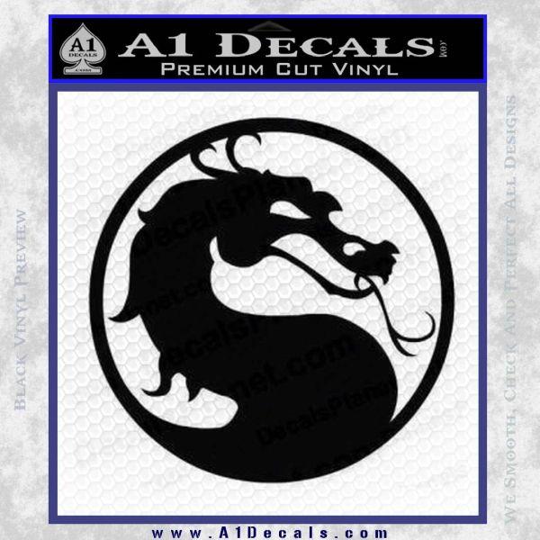 Mortal Kombat Decal Sticker DS Black Vinyl