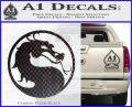 Mortal Kombat Decal Sticker DS Carbon FIber Black Vinyl 120x97