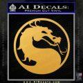 Mortal Kombat Decal Sticker DS Gold Vinyl 120x120