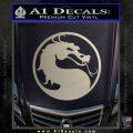 Mortal Kombat Decal Sticker DS Metallic Silver Emblem 120x120