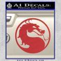 Mortal Kombat Decal Sticker DS Red 120x120