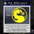Mortal Kombat Decal Sticker DS Yellow Laptop 120x120