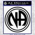 N.A. Narcotics Anonymous Decal Sticker D1 Black Vinyl 120x120