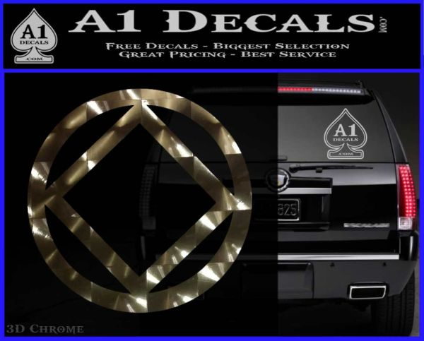 NA Narcotics Anonymous CST Decal Sticker 3DChrome Vinyl