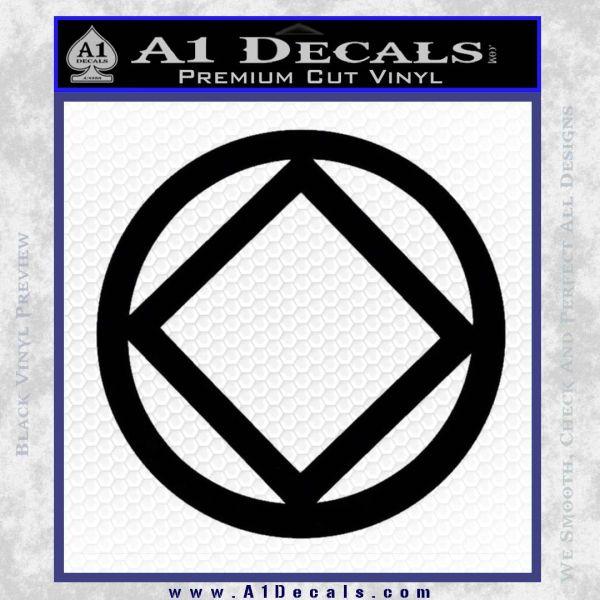 NA Narcotics Anonymous CST Decal Sticker Black Vinyl