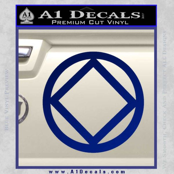 NA Narcotics Anonymous CST Decal Sticker Blue Vinyl