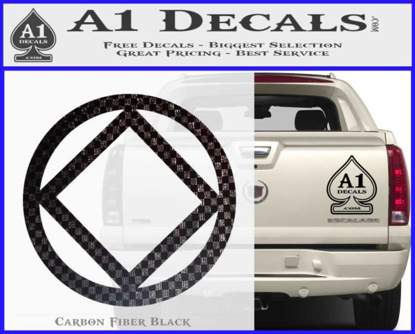 NA Narcotics Anonymous CST Decal Sticker Carbon FIber Black Vinyl