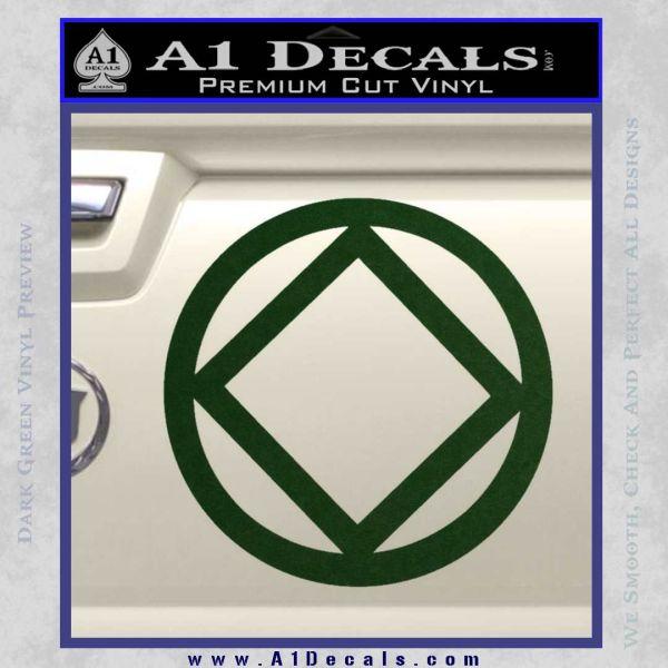 NA Narcotics Anonymous CST Decal Sticker Dark Green Vinyl