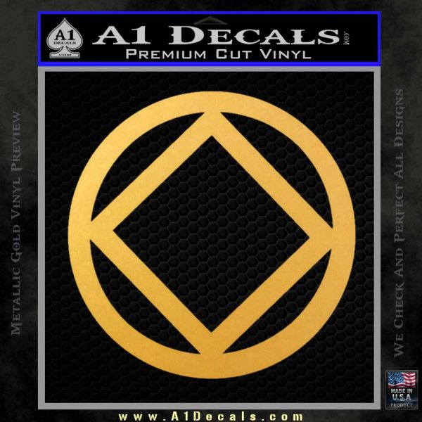 NA Narcotics Anonymous CST Decal Sticker Gold Vinyl