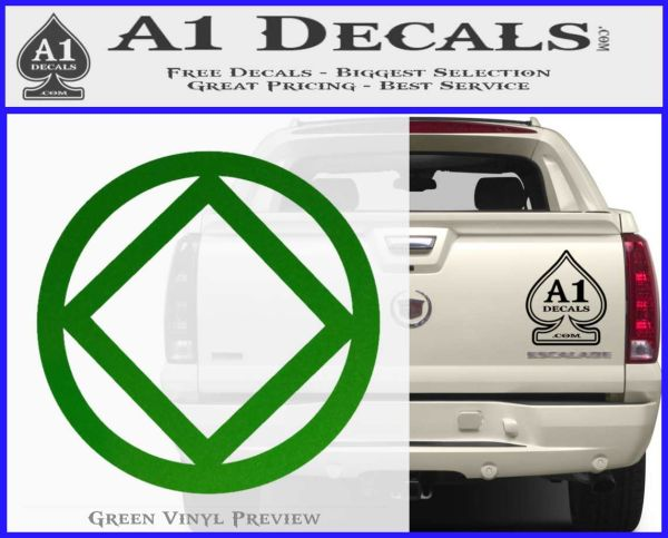 NA Narcotics Anonymous CST Decal Sticker Green Vinyl Logo