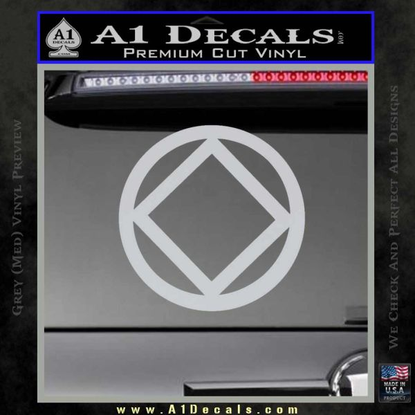NA Narcotics Anonymous CST Decal Sticker Grey Bumper