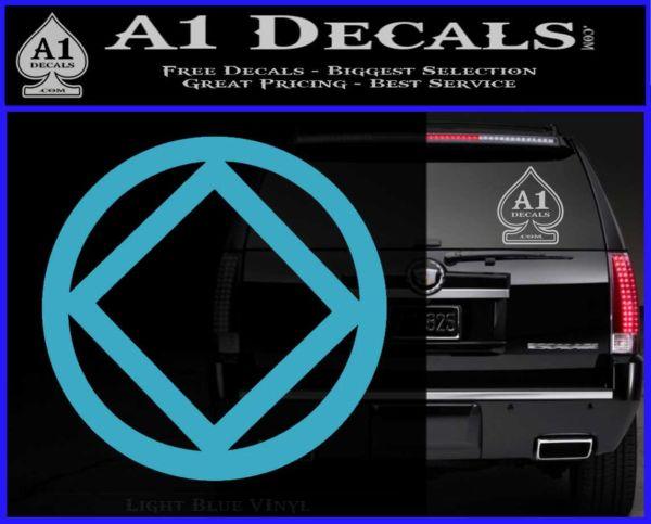 NA Narcotics Anonymous CST Decal Sticker Light Blue Vinyl
