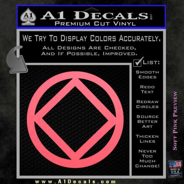 NA Narcotics Anonymous CST Decal Sticker Pink Emblem