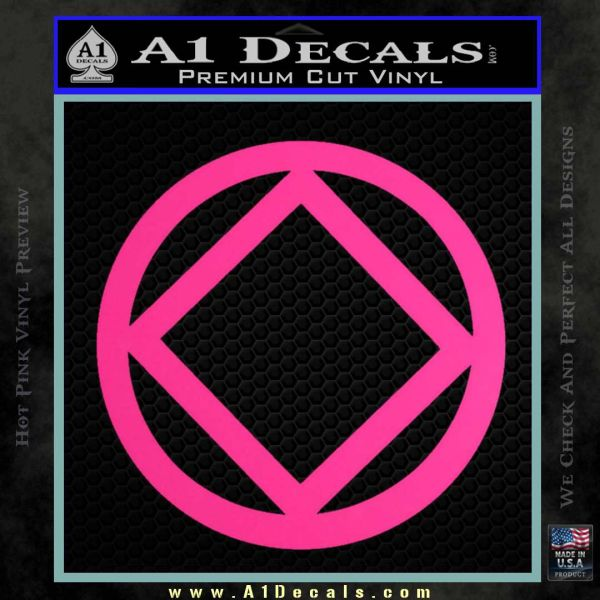 NA Narcotics Anonymous CST Decal Sticker Pink Hot Vinyl