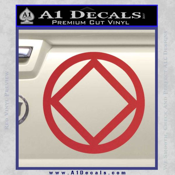 NA Narcotics Anonymous CST Decal Sticker Red