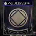 NA Narcotics Anonymous Circle D2 Decal Sticker Carbon FIber Chrome Vinyl 120x120