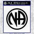 Na Narcotics Anonymous Single Circle D1 Decal Sticker Black Vinyl 120x120