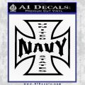 Navy Iron Cross Decal Sticker Black Vinyl 120x120
