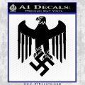 Nazi Eagle Crest D2 Decal Sticker Black Vinyl 120x120