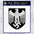 Nazi Heer Decal Sticker For Helmet Black Vinyl 120x120