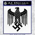 Nazi Heer Helmet D3 Eagle Decal Sticker Black Vinyl 120x120