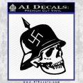 Nazi Helmet Spike Skull WW2 Swastika Decal Sticker Black Vinyl 120x120